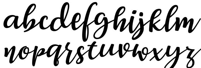 Breetty Italic Font Litere mici
