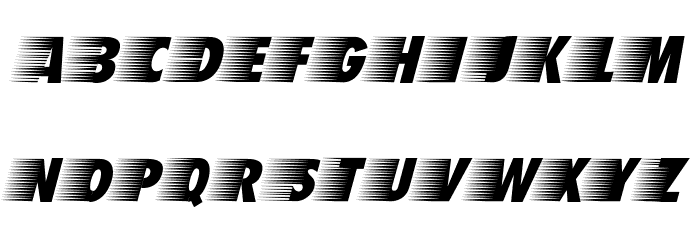 BreezedCaps BoldOblique Schriftart Groß