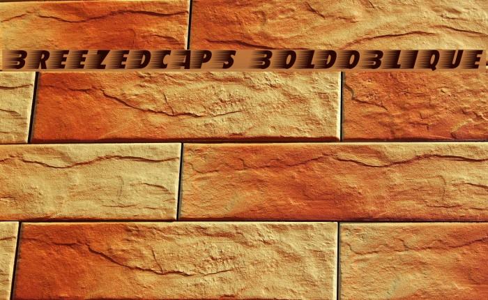 BreezedCaps BoldOblique Schriftart examples