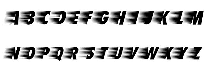 BreezedCaps BoldOblique Schriftart Kleinbuchstaben