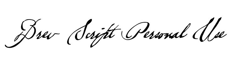 Brev Script Personal Use  font caratteri gratis