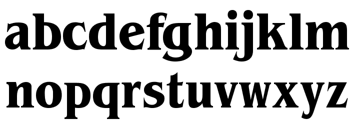 Brian James Condensed Bold Font LOWERCASE