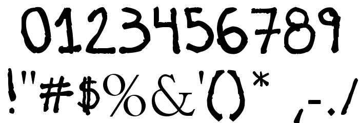Briasco Rustic Font OTHER CHARS
