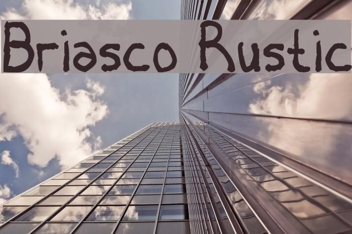 Briasco Rustic Font examples