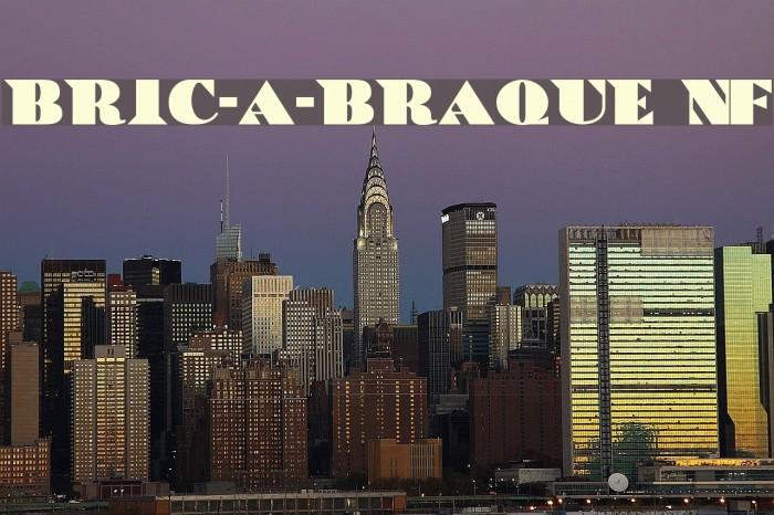 Bric-a-Braque NF Font examples