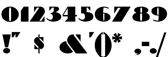 Bric-a-Braque Шрифта ДРУГИЕ символов