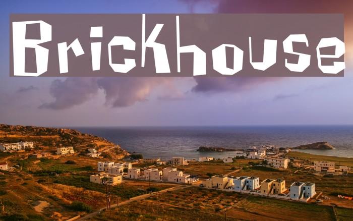 Brickhouse Font examples