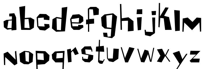 Brickhouse Font LOWERCASE