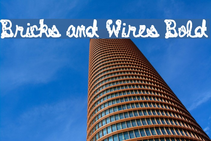 Bricks and Wires Bold Font examples
