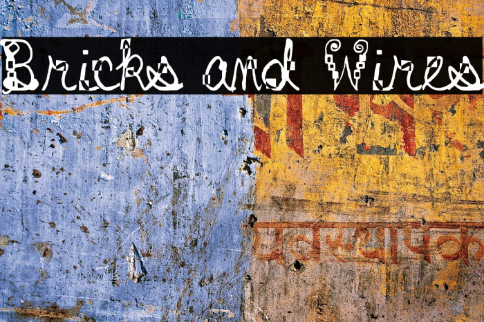 Bricks and Wires Schriftart examples