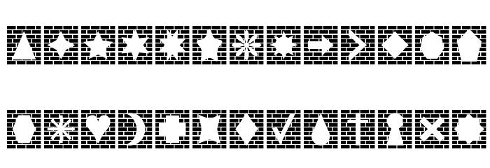 Bricks n Things Caratteri MAIUSCOLE