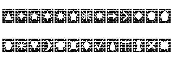 Bricks n Things Caratteri MINUSCOLO