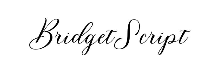 BridgetScript  Скачать бесплатные шрифты