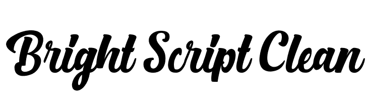 Bright Script Clean  Descarca Fonturi Gratis