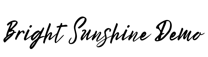 Bright Sunshine Demo  Free Fonts Download
