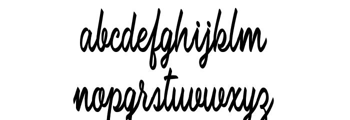 Brilhant フォント 小文字