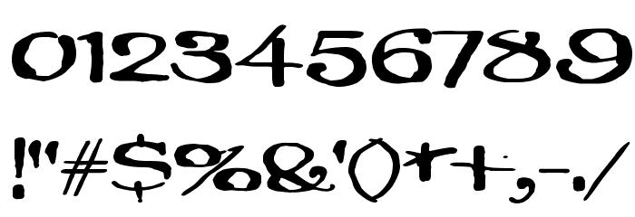 Brillianthre Шрифта ДРУГИЕ символов