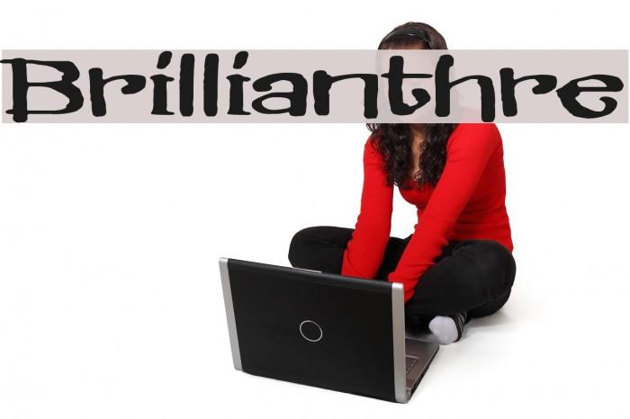 Brillianthre Шрифта examples