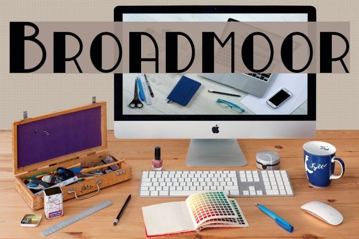 Broadmoor Font examples