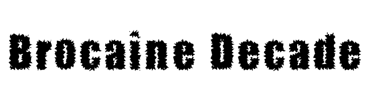 Brocaine Decade  Free Fonts Download