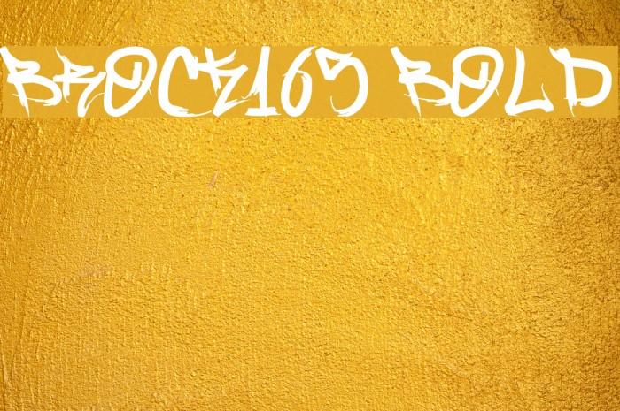 Brock165 Bold फ़ॉन्ट examples