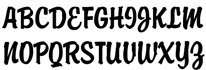 Brody Font UPPERCASE