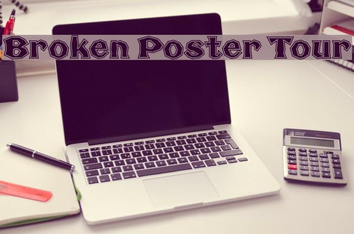 Broken Poster Tour Fonte examples