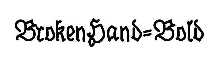BrokenHand-Bold  Скачать бесплатные шрифты
