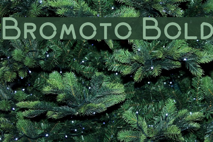 Bromoto Bold Font examples