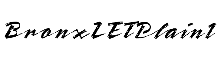 BronxLETPlain1  Free Fonts Download