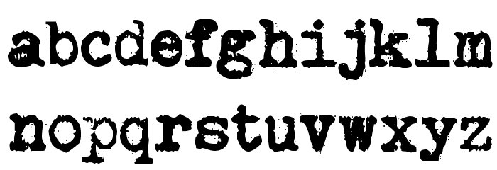 Brother Deluxe 1350 Font Fuentes MINÚSCULAS