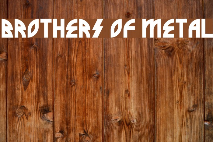 Brothers of Metal Font examples