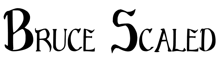 Bruce Scaled  Free Fonts Download