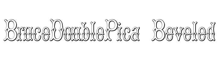 BruceDoublePica Beveled  Free Fonts Download