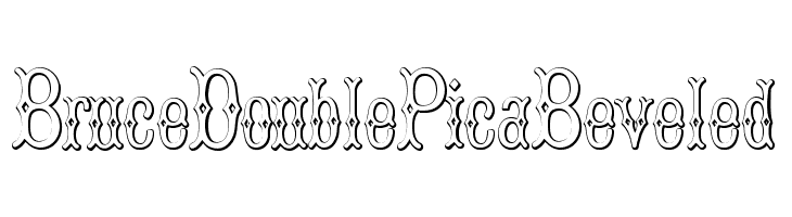 BruceDoublePicaBeveled  Free Fonts Download