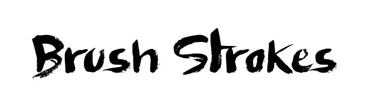 Brush Strokes  font caratteri gratis