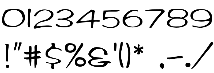 BrushArt Font OTHER CHARS