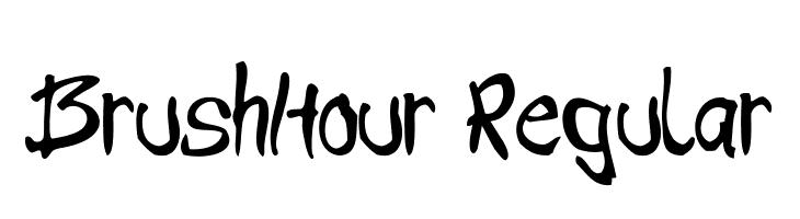 BrushHour-Regular  नि: शुल्क फ़ॉन्ट्स डाउनलोड