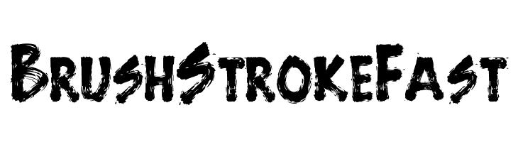 BrushStrokeFast  नि: शुल्क फ़ॉन्ट्स डाउनलोड
