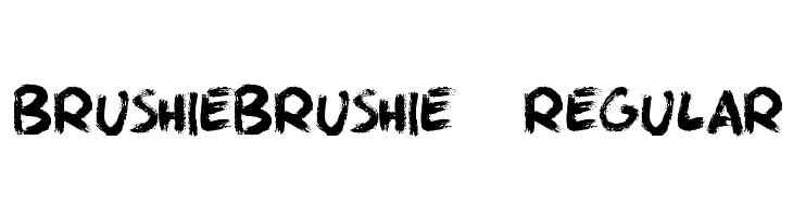 BrushieBrushie-Regular  لخطوط تنزيل