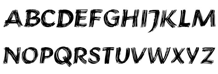 Brushstroke Plain Font UPPERCASE