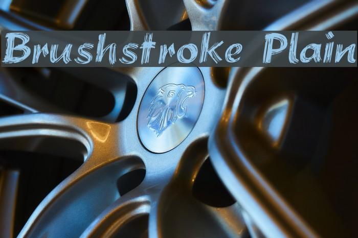Brushstroke Plain Font examples