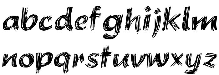 Brushstroke Plain Font LOWERCASE