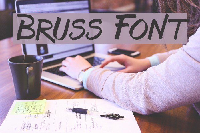 Bruss Font examples