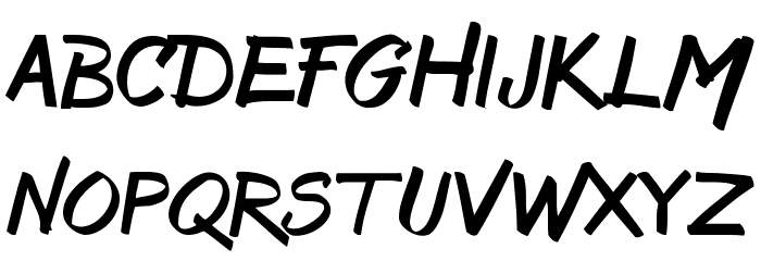 Bruss Font Litere mici