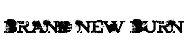 brand new burn  baixar fontes gratis