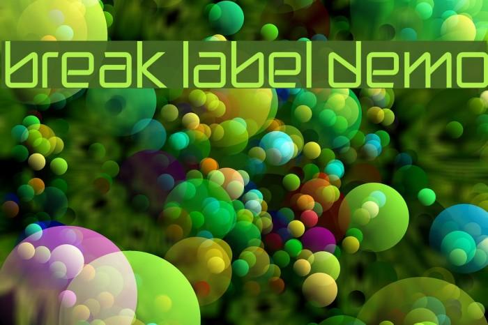 break label DEMO फ़ॉन्ट examples