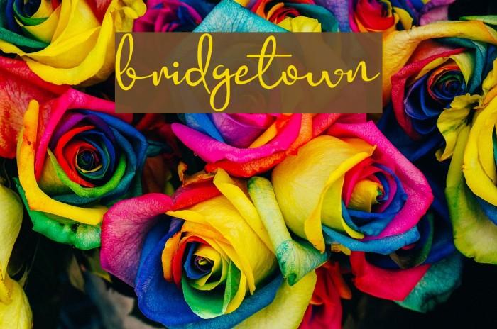bridgetown Шрифта examples
