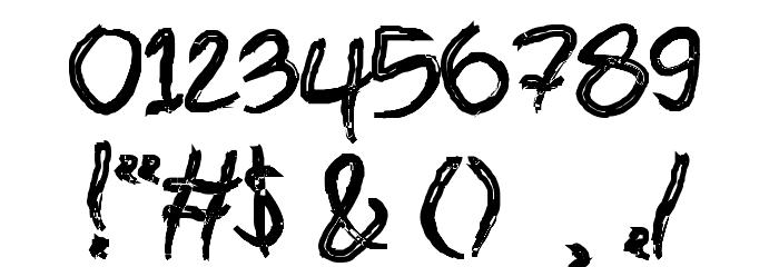 brush Bold Шрифта ДРУГИЕ символов