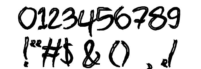 brush-Bold Шрифта ДРУГИЕ символов